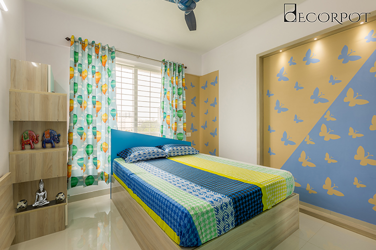 Guest Bedroom Interior Design Bangalore-8. GBR-2BHK, Electronic City, Bangalore
