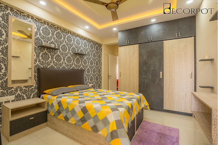 Guest Bedroom Interior Design Bangalore-GBR-3BHK, Kanakpura Road, Bangalore