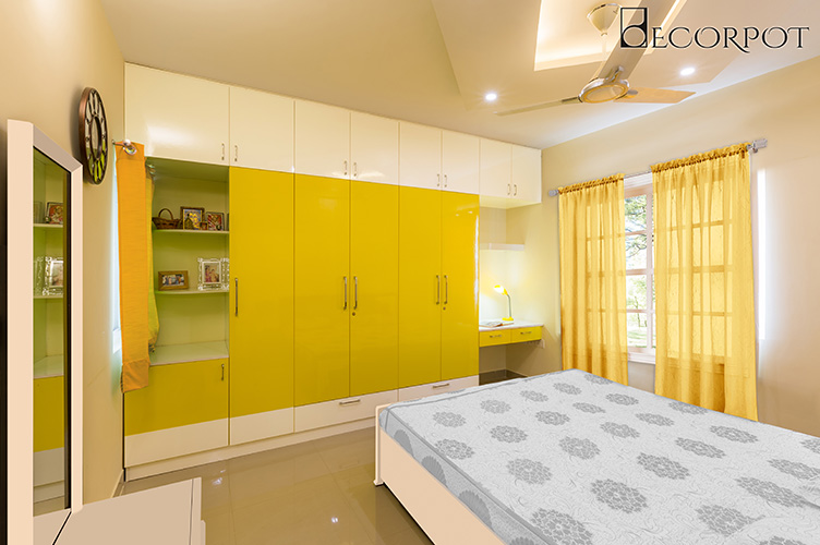 Guest Bedroom Interior Design Bangalore-GBR-3BHK, Whitefield, Bangalore