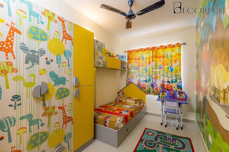 Kids Room Interior Design Bangalore-KBR2-3BHK, Whitefield, Bangalore