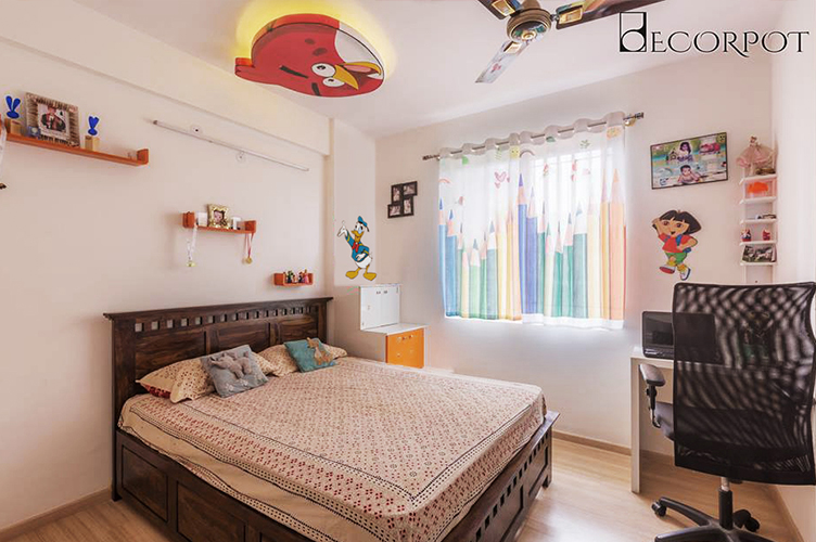 Kids Room Interior Design Bangalore-11. KBR 1-2BHK, Akshay Nagar, Bangalore
