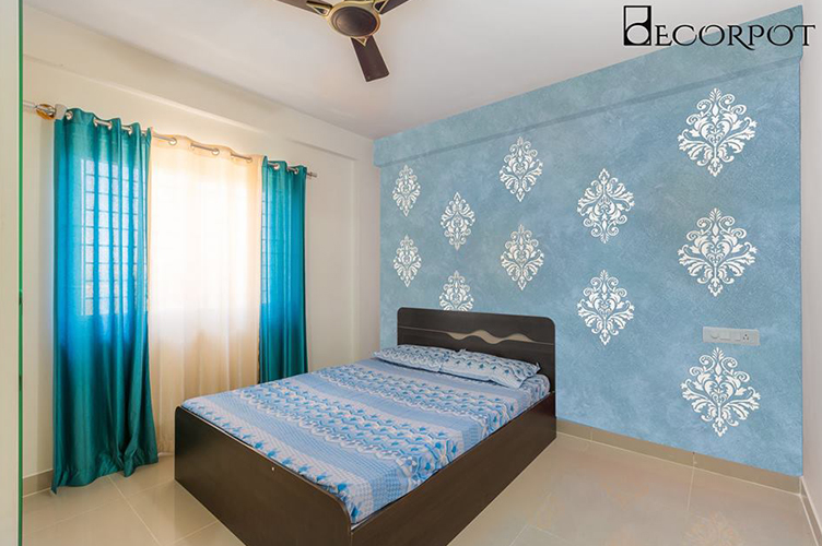 Parents Room Interior Design-GBR-3BHK, Krishnarajapura , Bangalore