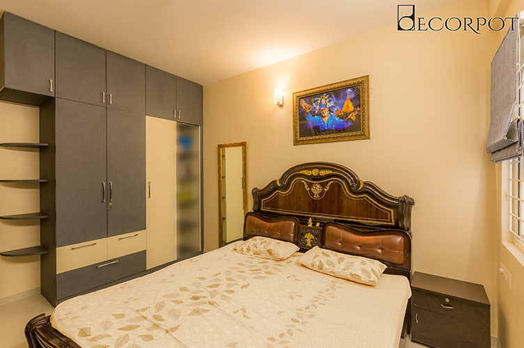 Parents Room Interior Design-GBR-3BHK, Sarjapur Road, Bangalore