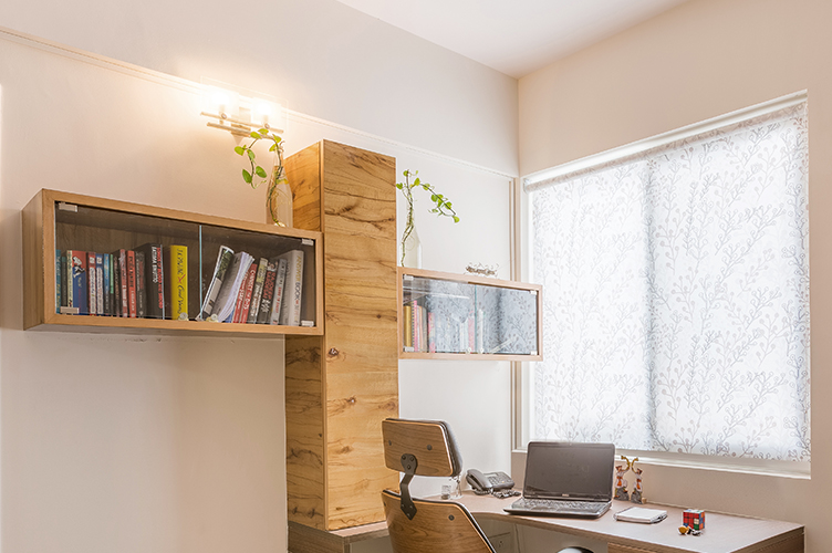 Study Room Interior Design Bangalore-8. Study-3BHK, Sarjapur Road, Bangalore