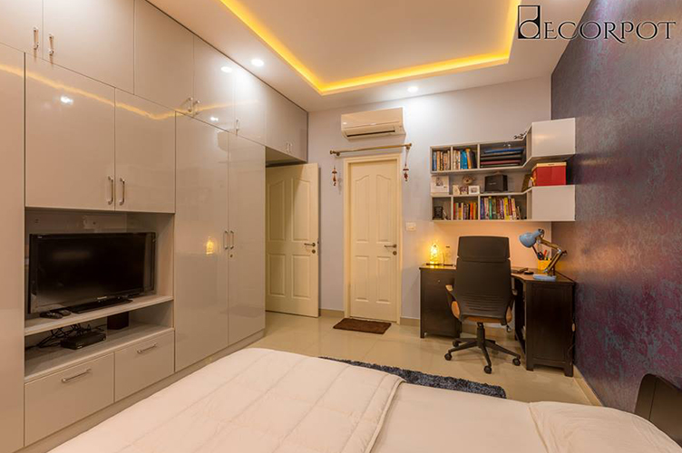 Study Room Interior Design Bangalore-MBR-3BHK, Mysore Road, Bangalore
