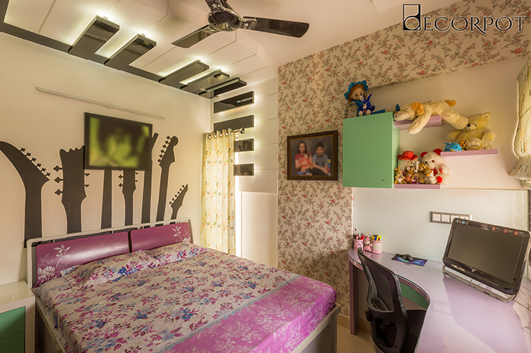 Study Room Interior Design Bangalore-KBR-3BHK, HSR Layout, Bangalore