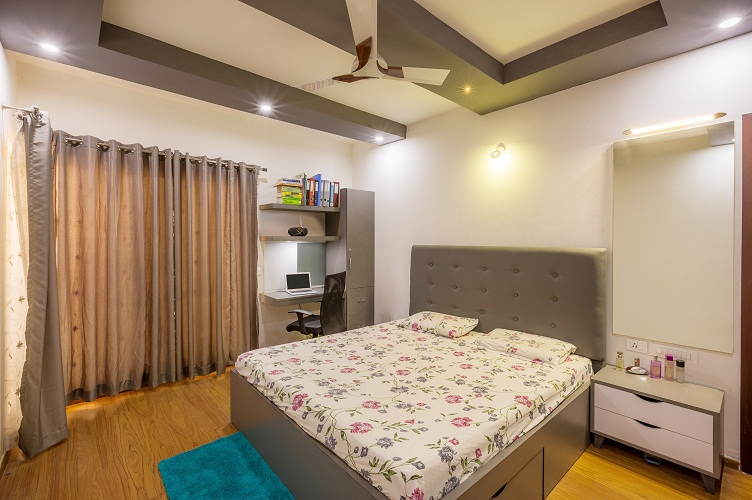 Study Room Interior Design Bangalore-6.MBR -2BHK, Electronic City, Bangalore