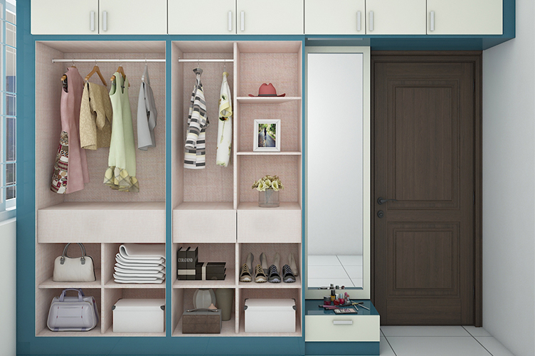 Best walk in wardrobe interior designers in bangalore
